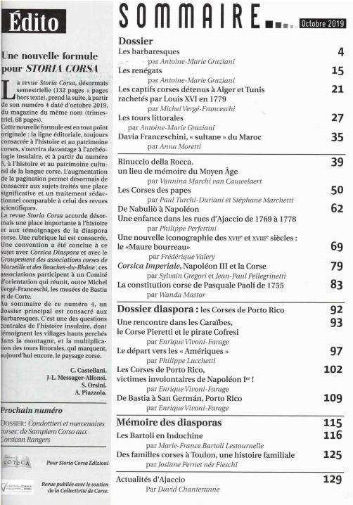 sommaire storia corsa n°4